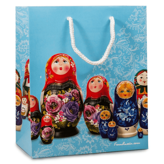 Gift Bag: Blue Matryoshka