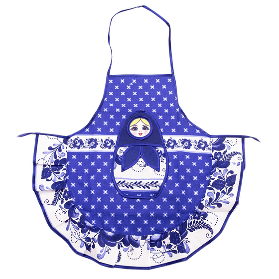 Matryoshka Apron for Kids: Gzhel