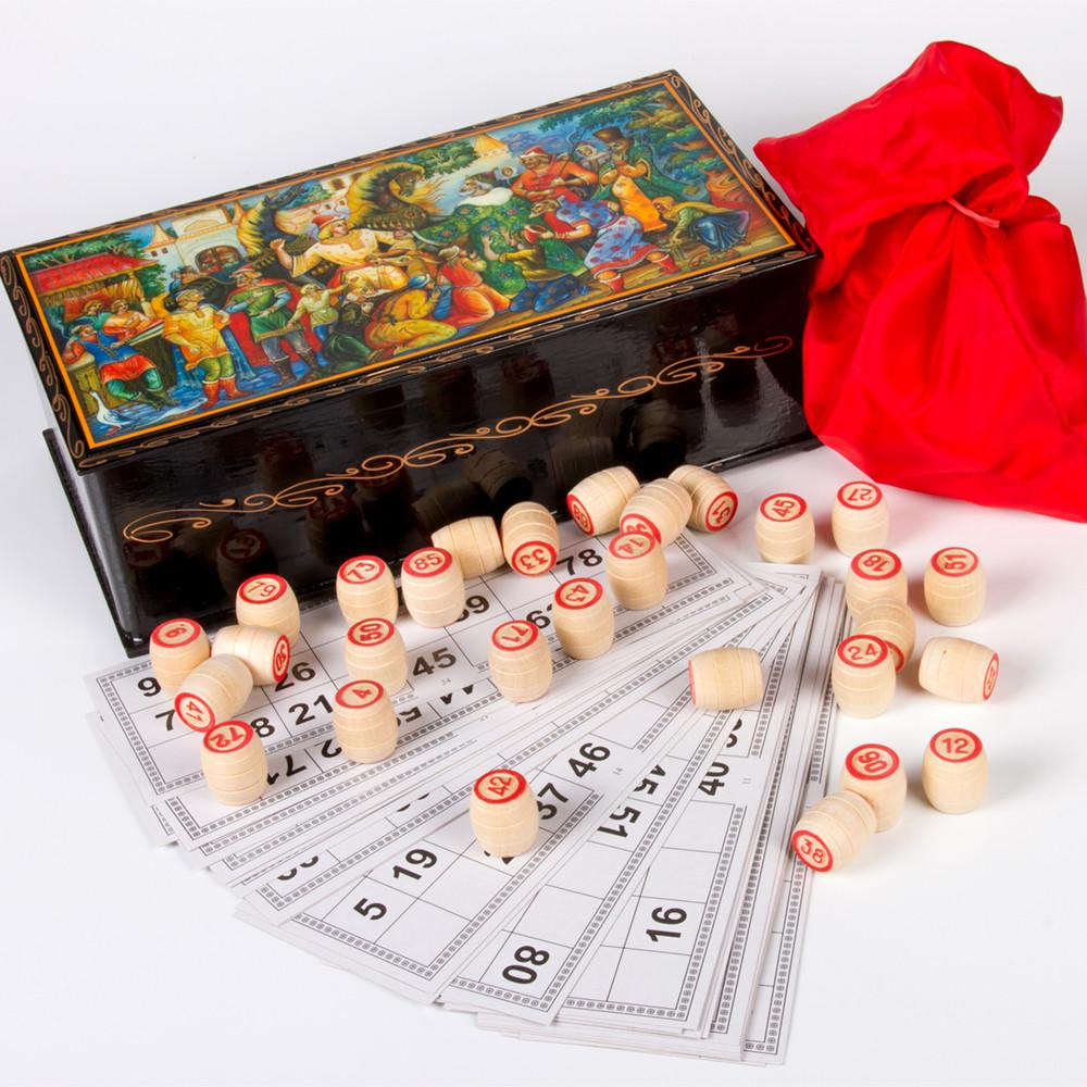 Russian Bingo Lacquer Gift Set: Carolers: Humpbacked Horse