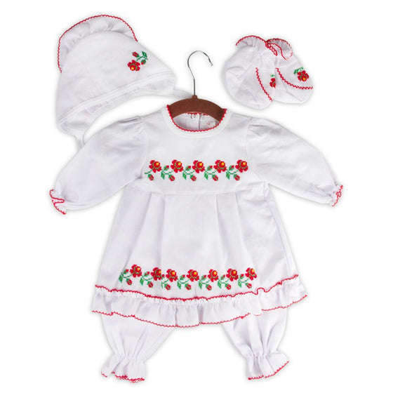 Russian Costume: Red & White (Girls, 5-pc.)