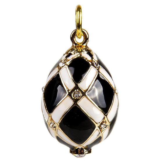 Egg Pendant: Black Diamonds