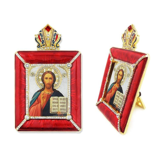 Faberge Style Frame: Christ Almighty