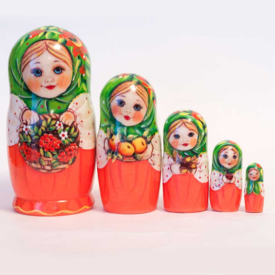 Matryoshka: Berry Picking, 5-piece