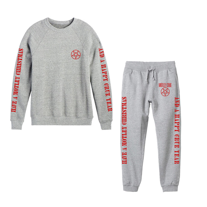 Motley Christmas Heather Grey Sweatsuit