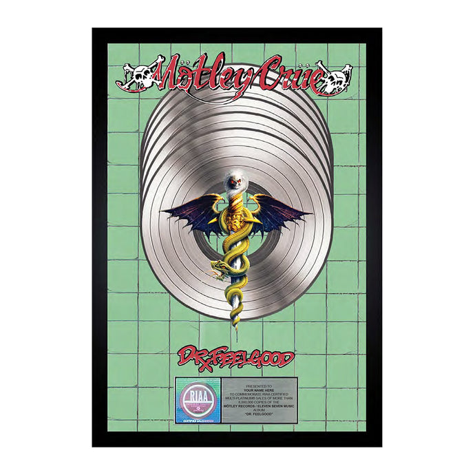 Dr. Feelgood Commemorative Vertical Plaque
