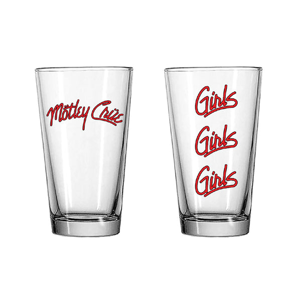 Girls Girls Girls Pint Glass