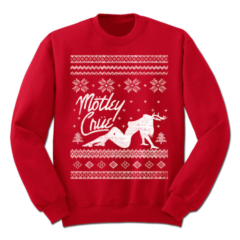 MOTLEY CRUE HOLIDAY RED CREWNECK SWEATSHIRT