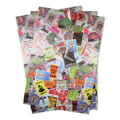 Laminate Collage Wrapping Sheets