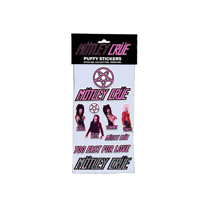 Motley Crue Puffy Sticker Set