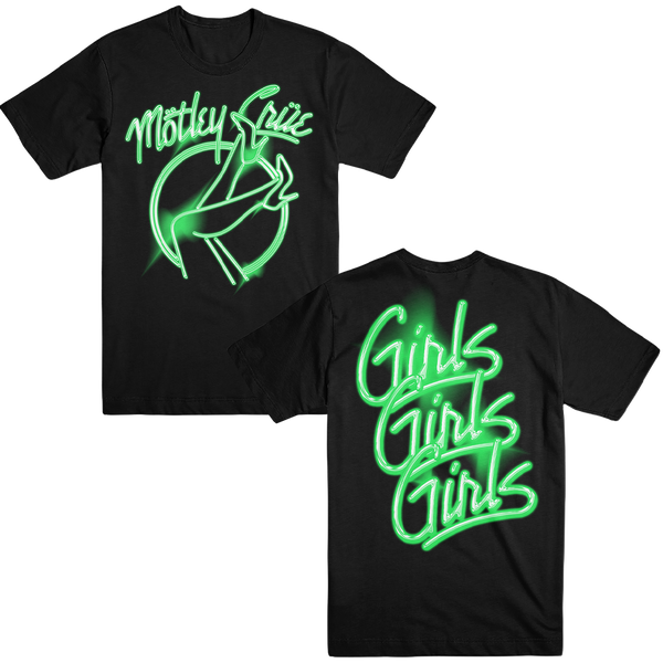 Neon Green Girls Girls Girls Tee