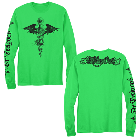 Neon Green Feelgood Long Sleeve Tee