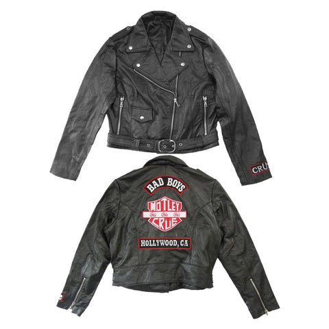 Womens Cropped Leather Jacket