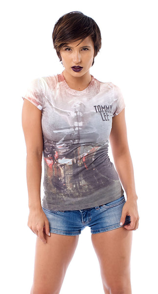 LIVE TOMMY DYE SUBLIMATED WOMENS TEE - X-Large