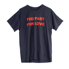 Too Fast For Love Stacked Distressed Tee