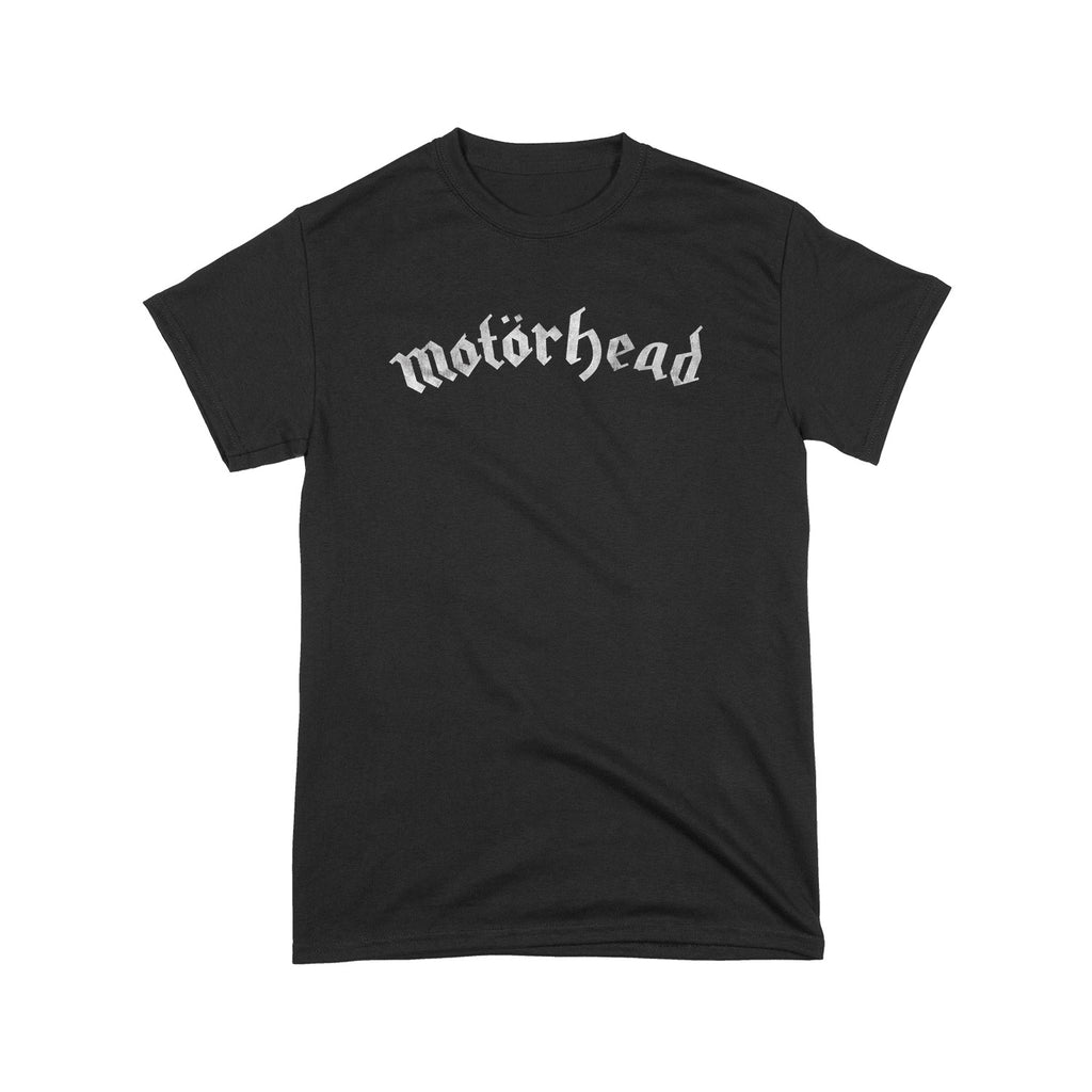 Distressed Logo Adult Black Tee
