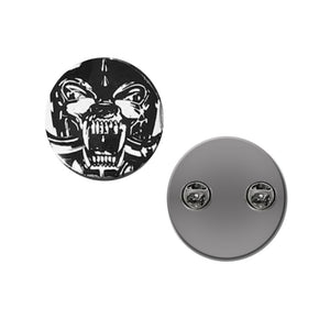 Warpig Black and White Pin Badge