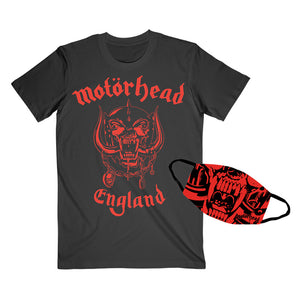 Red England Tee and Mask