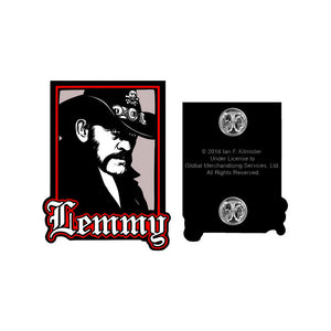 Lemmy Portrait Enamel Pin
