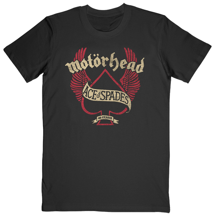 Ace of Spades 40 Years Wings Tee
