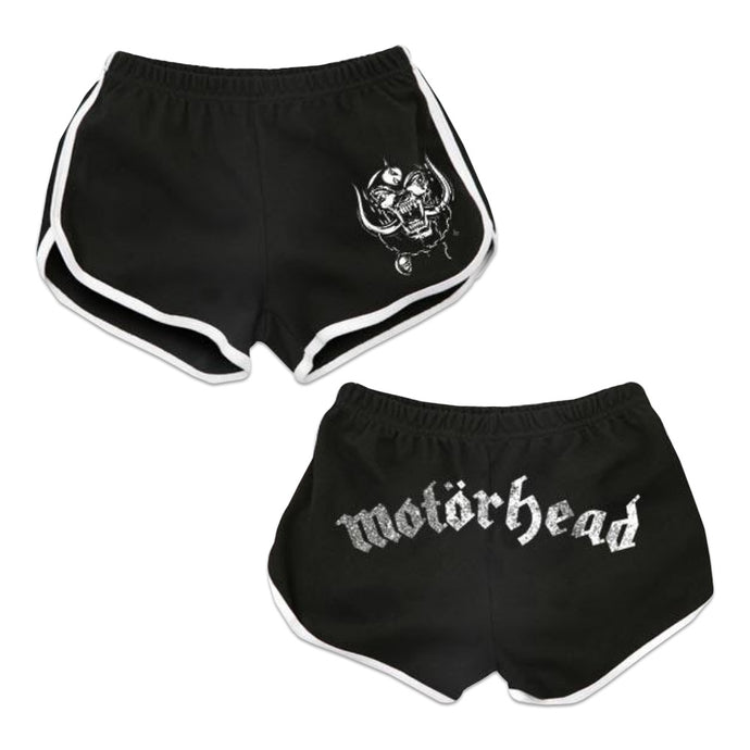 MOTORHEAD DISTRESSED LOGO RUNNING SHORTS