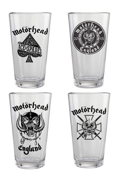 4pc MOTORHEAD PINT GLASS SET