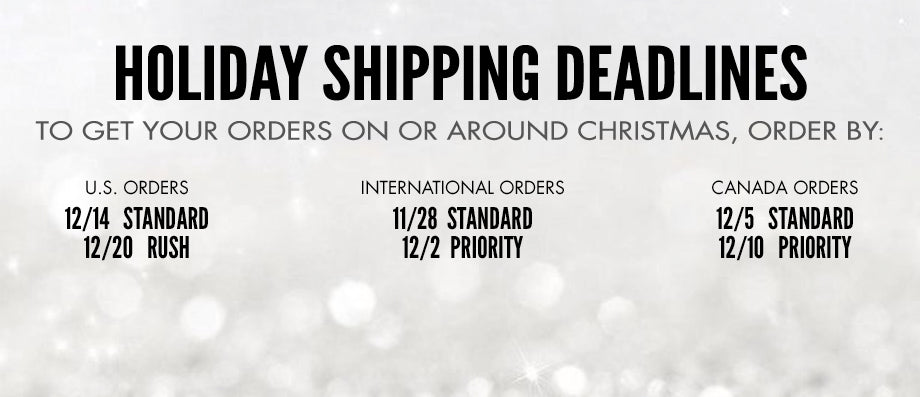 Shipping Deadlines for Motorhead Store