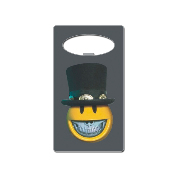 Top Hat Character Credit Card Bottle Opener