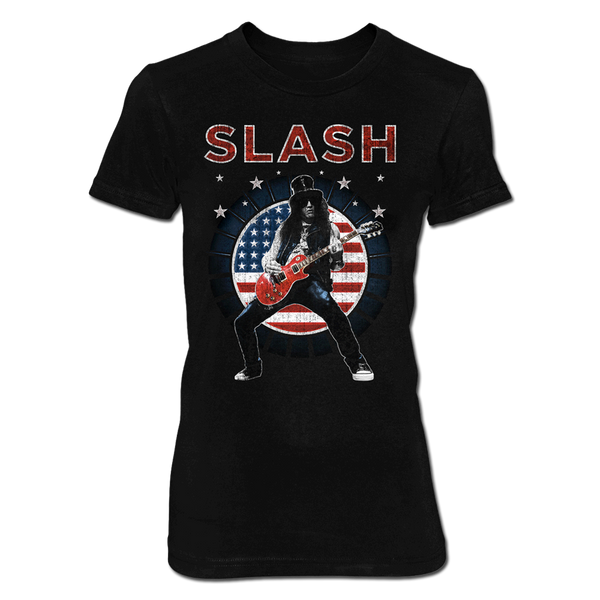 USA FLAG WOMENS TEE-X-Large