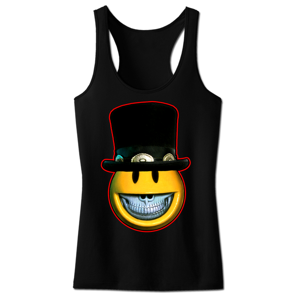 TOP HAT CHARACTER WOMENS RACER BACK TANK-X-Large
