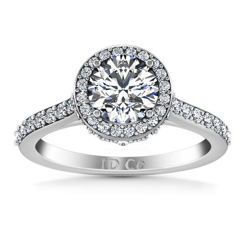 HALO ENGAGEMENT RING  1.52 CTS