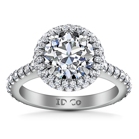 HALO ENGAGEMENT RING  1.8 CTS