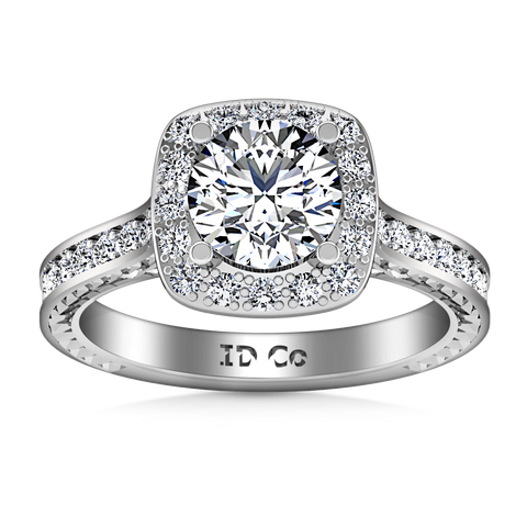 HALO ENGAGEMENT RING  1.7 CTS