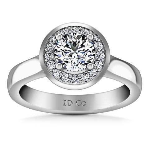 HALO ENGAGEMENT RING  1.25 CTS