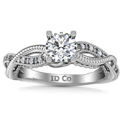 SIDE STONE ENGAGEMENT RING  1.15 CTS