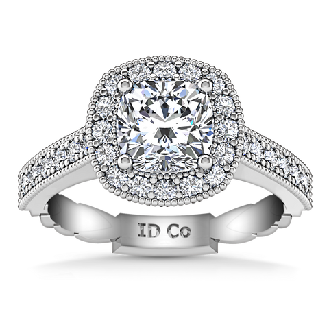 HALO ENGAGEMENT RING  1.5 CTS