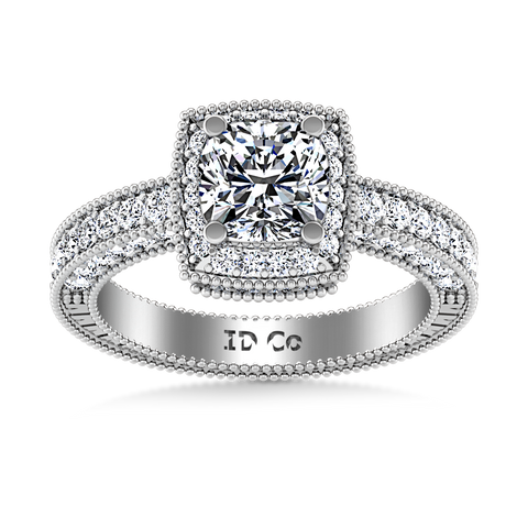 HALO ENGAGEMENT RING  2 CTS