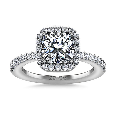 HALO ENGAGEMENT RING  1.38 CTS