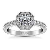 HALO ENGAGEMENT RING  1.9 CTS