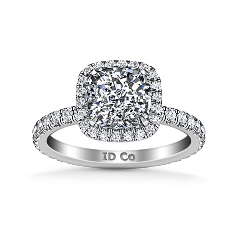 HALO ENGAGEMENT RING  2.05 CTS