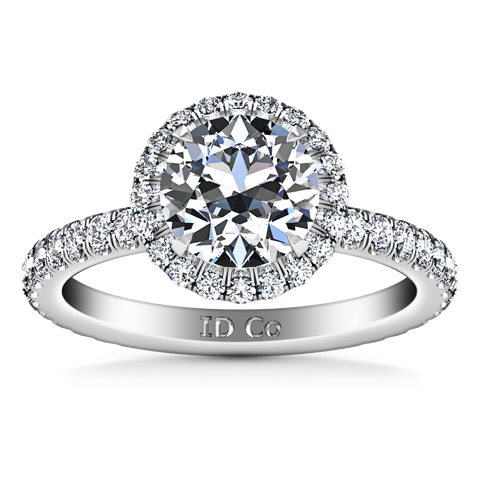 HALO ENGAGEMENT RING  1.82 CTS