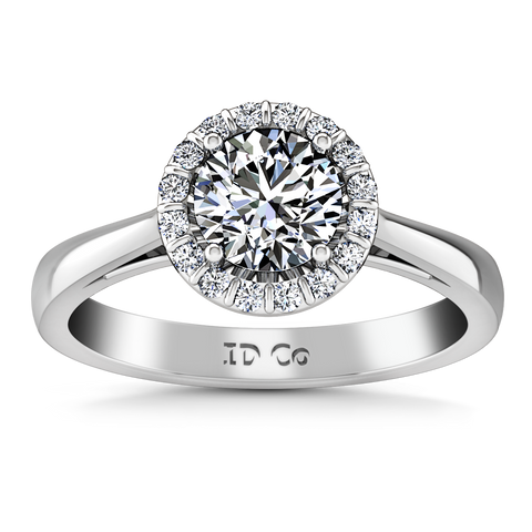 HALO ENGAGEMENT RING  1.16 CTS