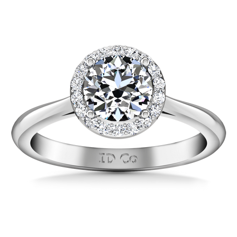 HALO ENGAGEMENT RING  1.24 CTS