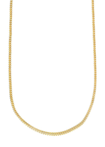 Solid Yellow Gold Franco Chain | 2.5 MM | 26 Inches | 10K
