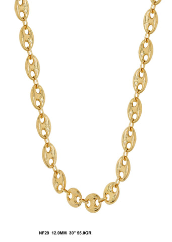 10K Yellow Gold Chain 12mm, 55 Grams, 30 Inches