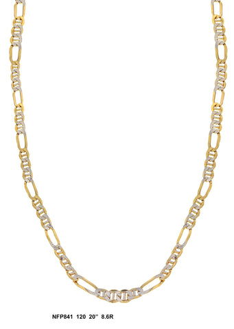Figaro Link Diamond Cut Yellow Gold Chain 8.6 Gram, 20 Inches