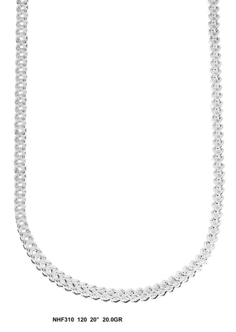 White Gold Franco Chain, 20 Inches, 20 Grams