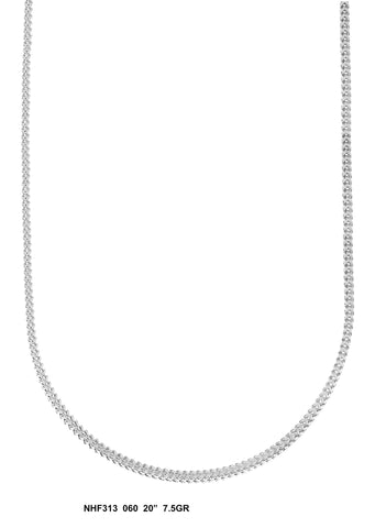 White Gold Franco Chain, 7.5 Grams, 20 Inches