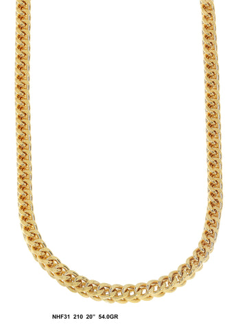 Yellow Gold Franco Chain, 54 Grams, 20 Inches
