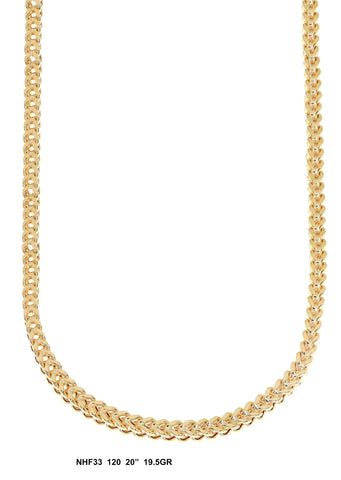 Yellow Gold Franco Chain 20 Inches, 19.5 Grams
