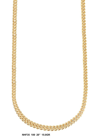 Yellow Gold Franco Chain 15 Grams, 20 Inches